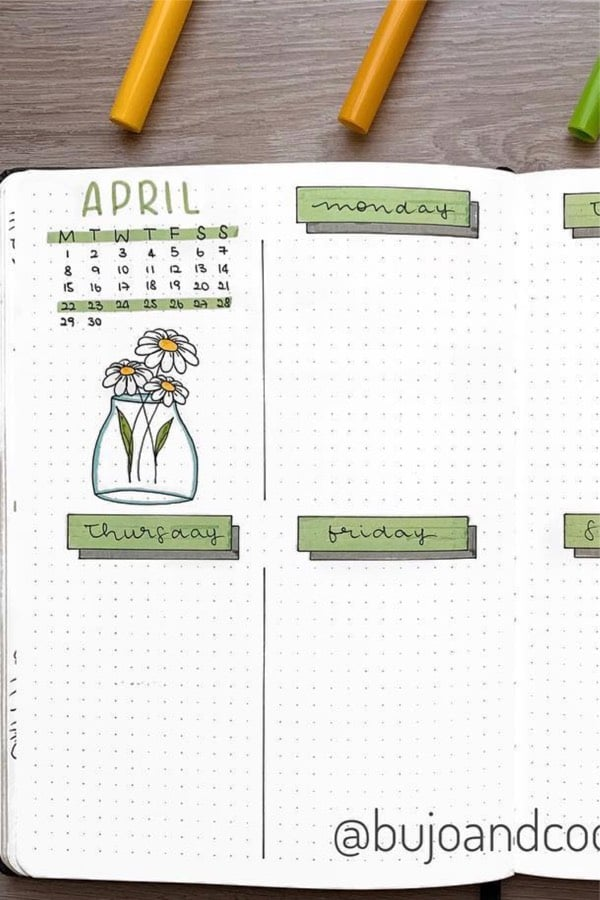 flower spread for april