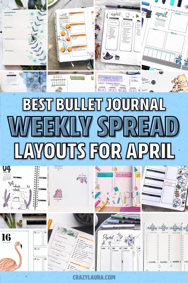 ideas for april bujo spreads