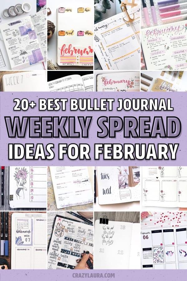 list of february bullet journal ideas