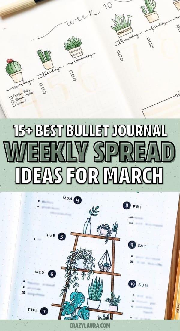 march bullet journal inspiration