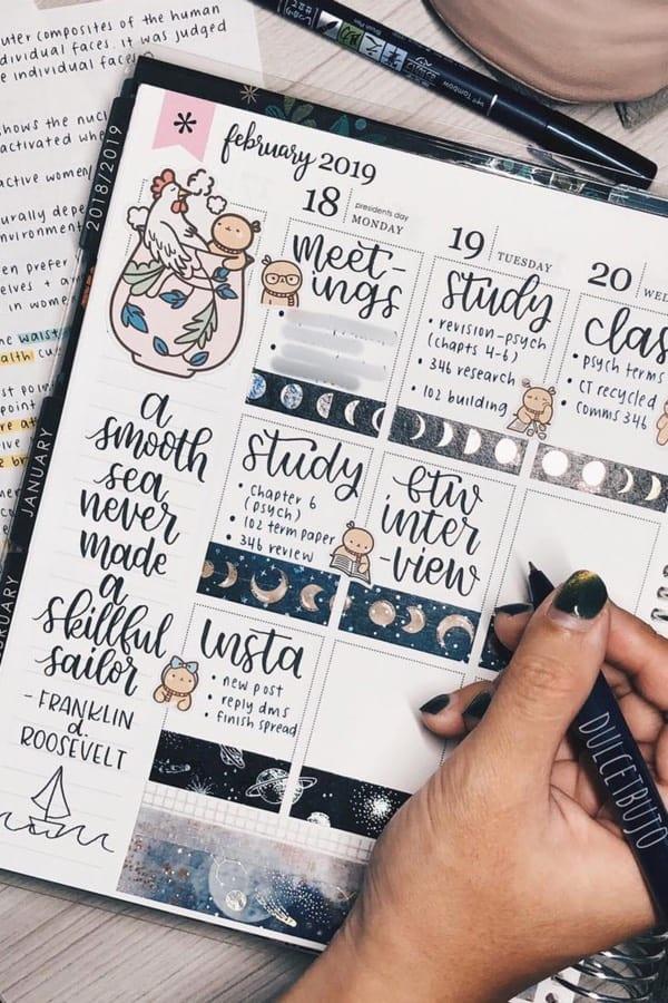 cute weekly planner idea