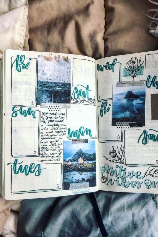 cute bujo layout ideas