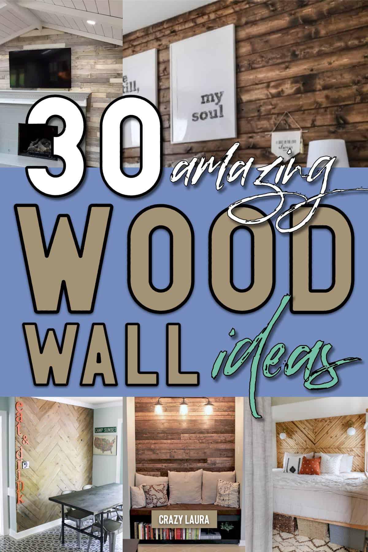 easy wood wall ideas