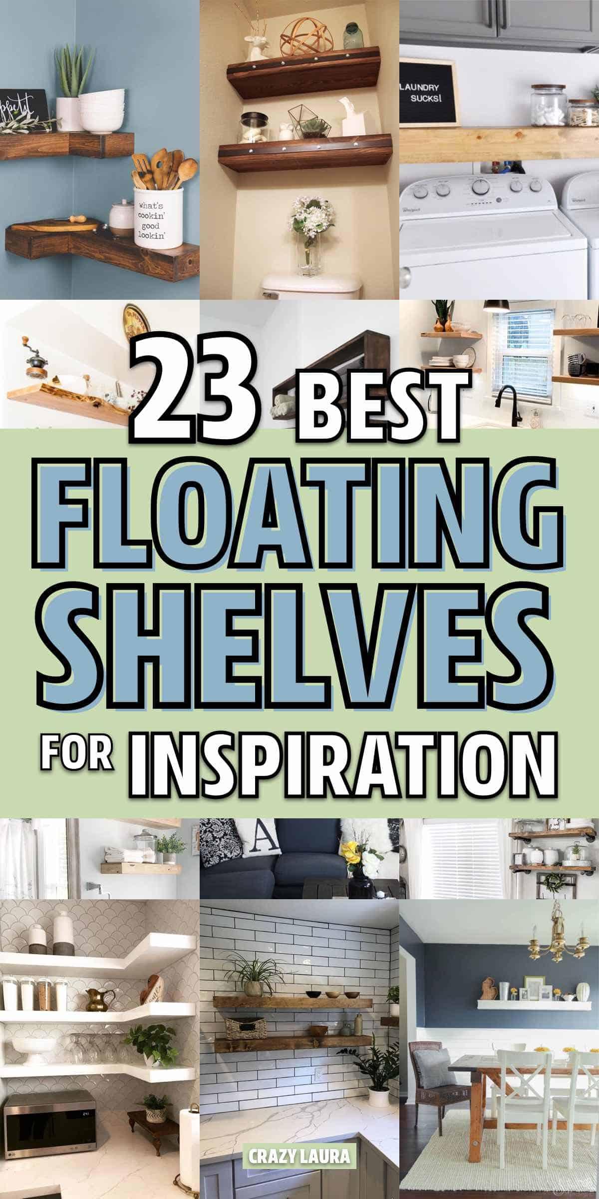 simple diy floating shelf ideas