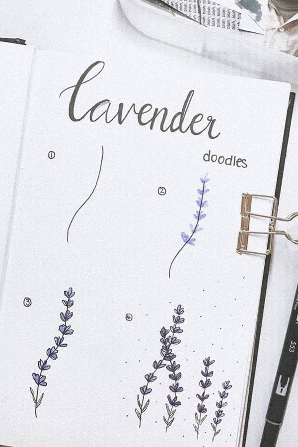 easy lavender doodle ideas