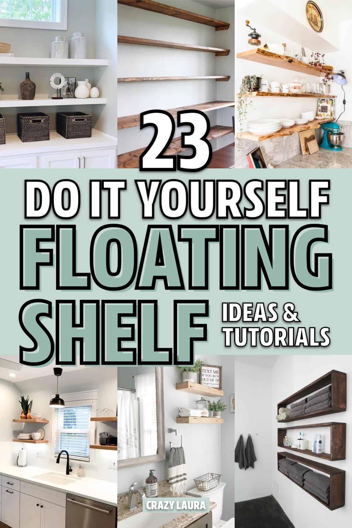 inexpensive diy floating shelf examples