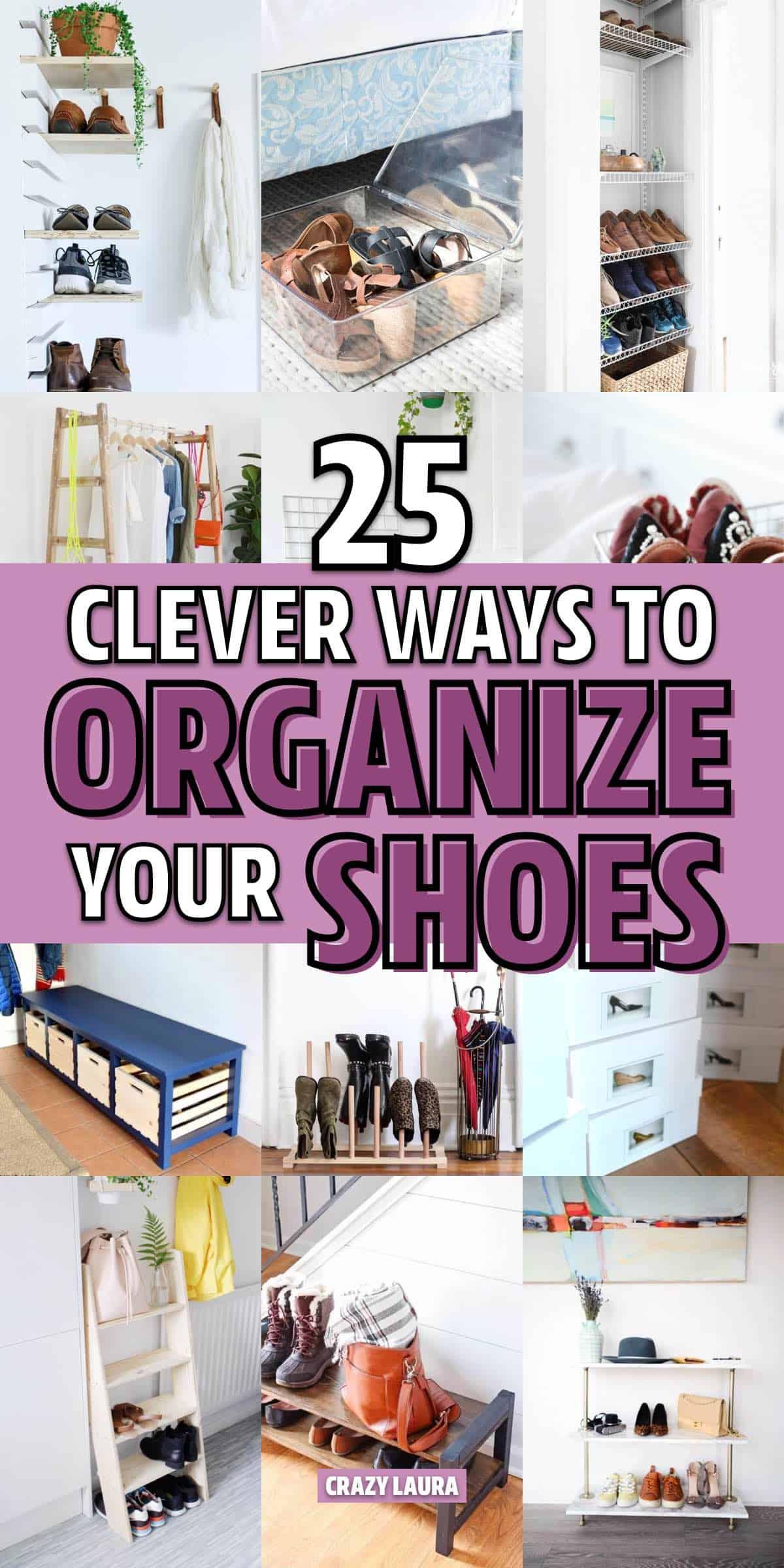 clever shoe organization ideas