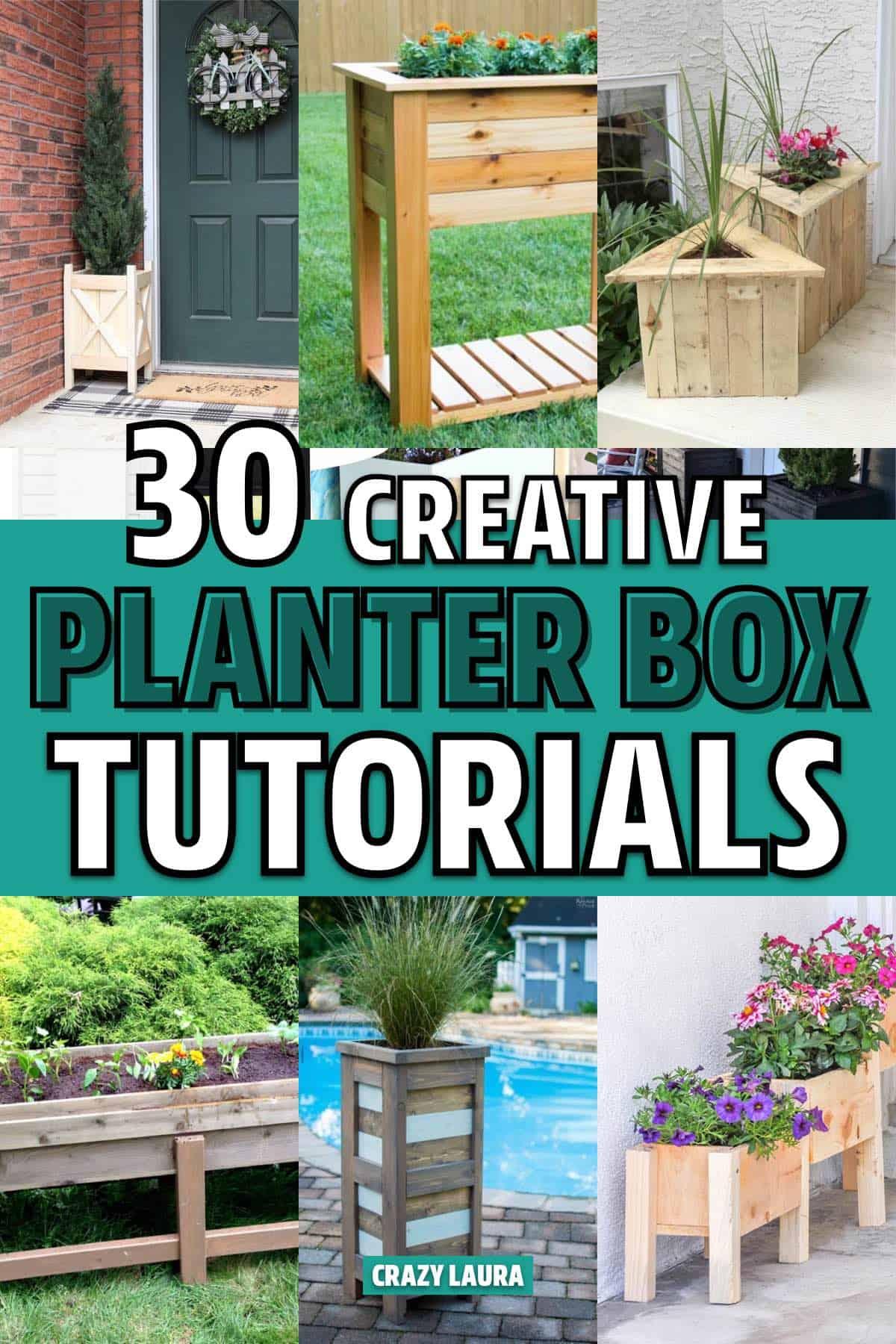 best diy wooden planter box ideas