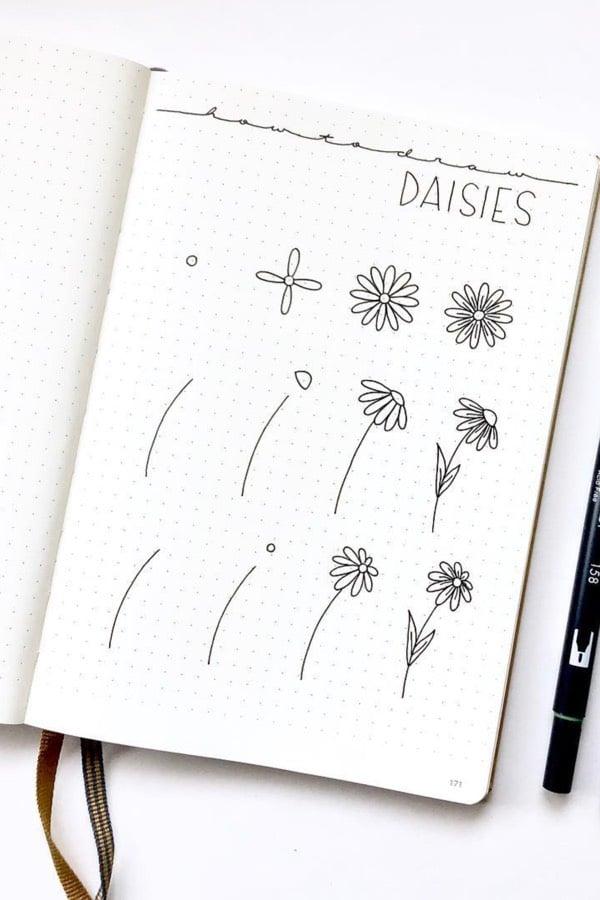easy daisy doodle ideas