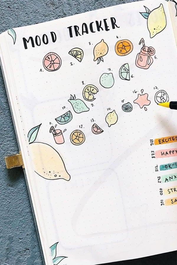 cute june mood tracker ideas