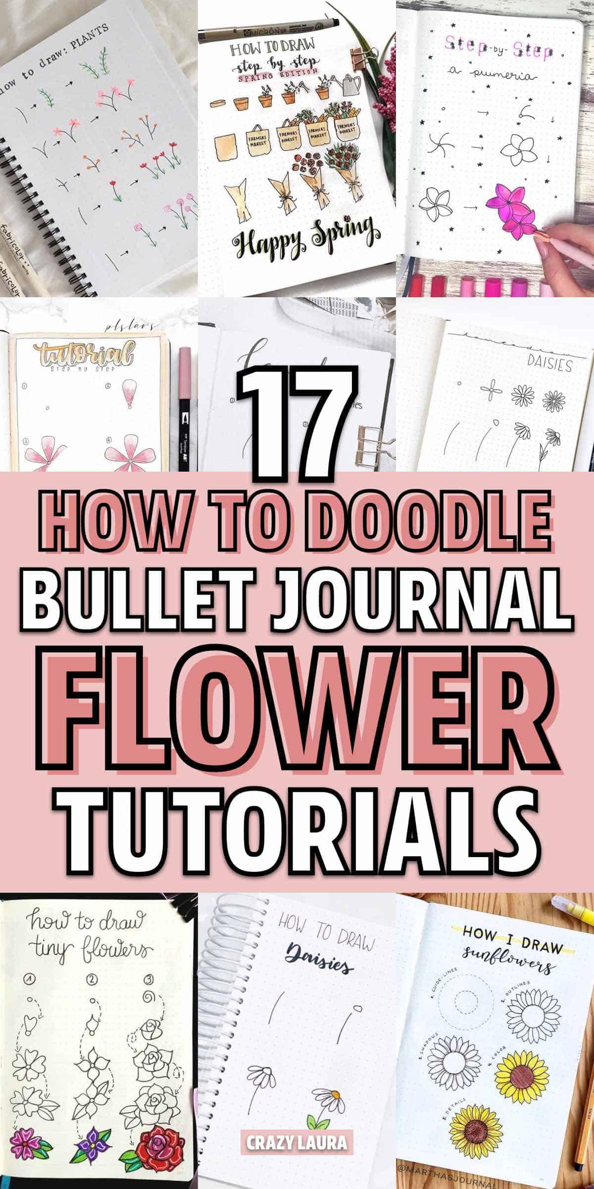 simple bujo flower doodle ideas