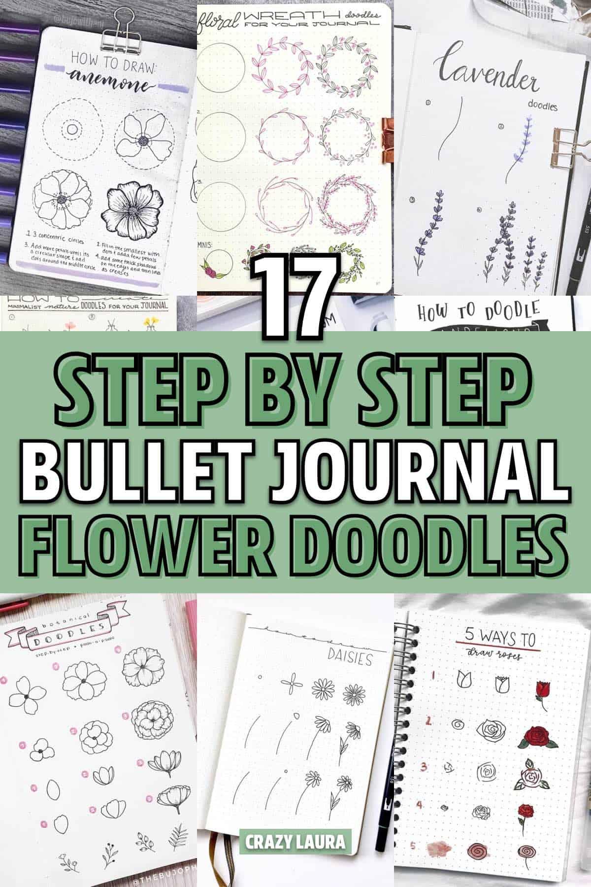 easy flower drawing for bujo