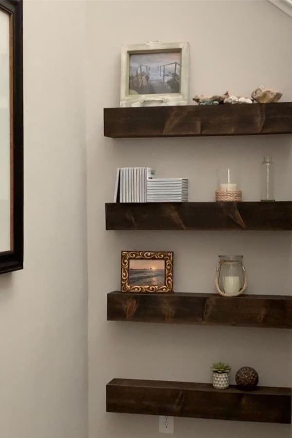best diy floating shelves