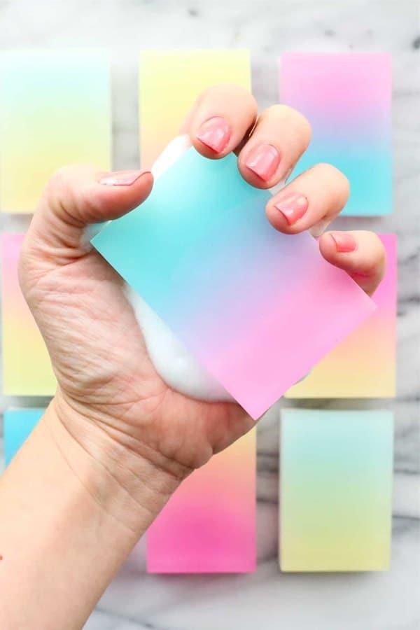 crazy color diy soap