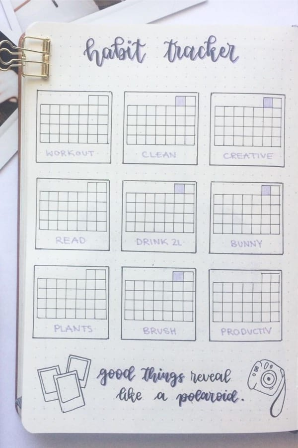 habit tracker made with ruler