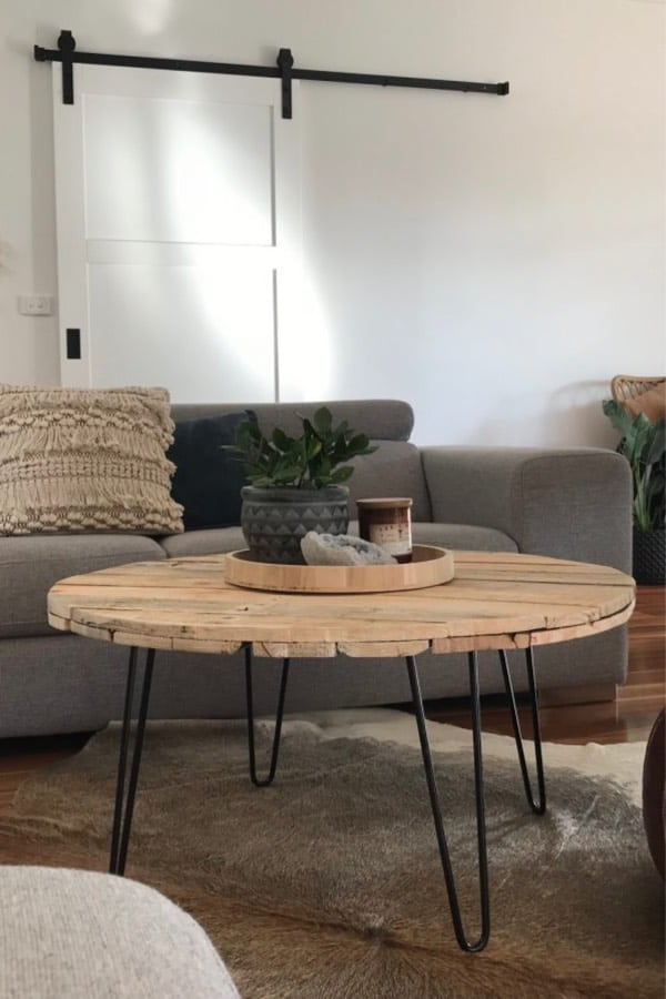 best diy circle coffee table