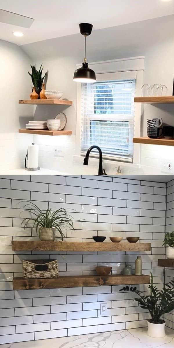 best modern floating shelves