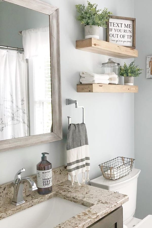 best diy floating shelf for bathroom
