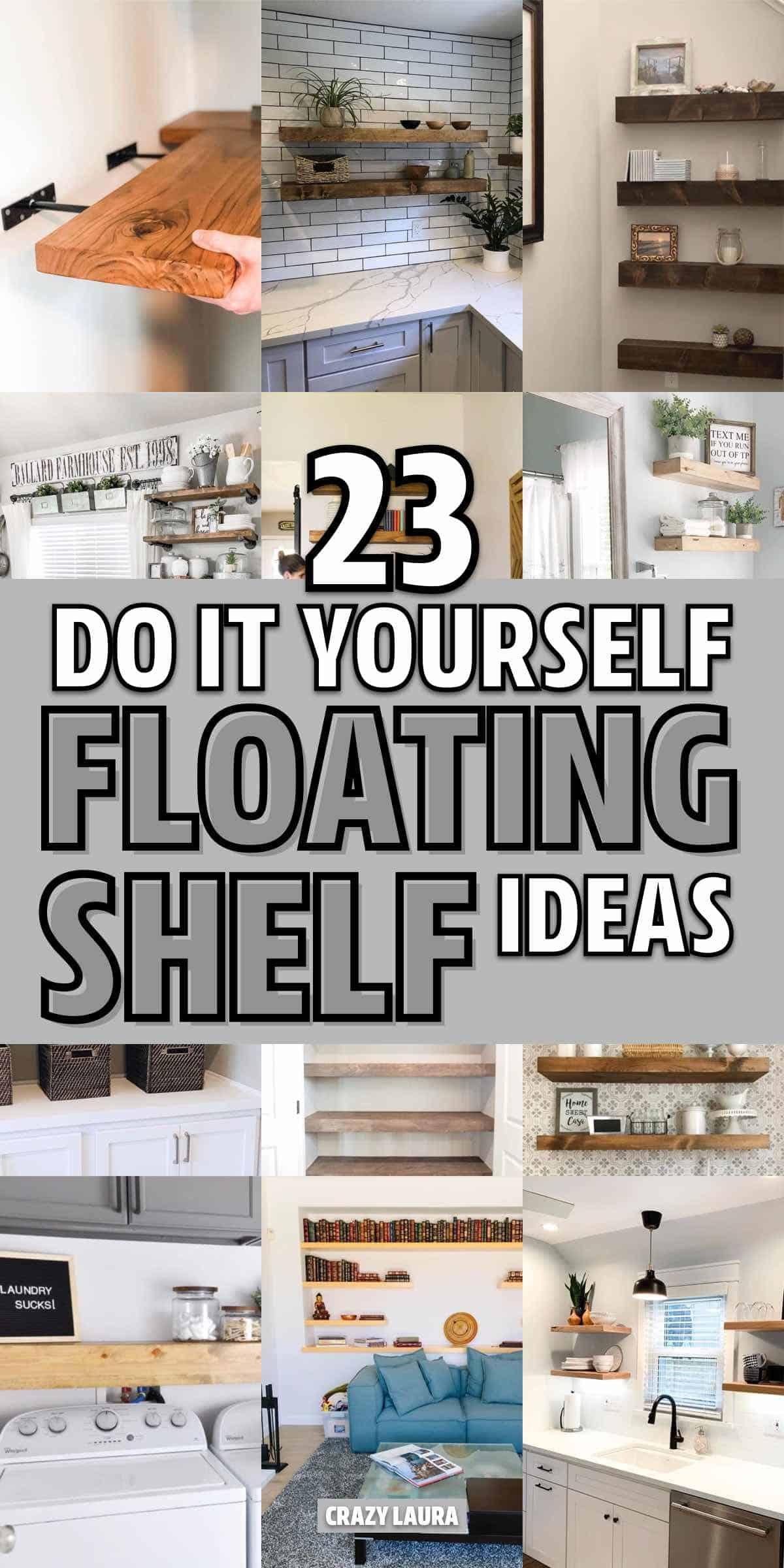 easy diy floating shelf ideas