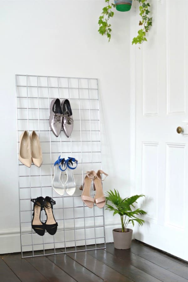 metal shoe storage ideas