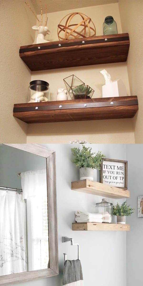 farmhouse floating shelf ideas