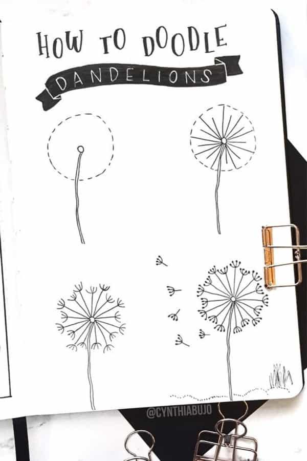 bujo dandelions