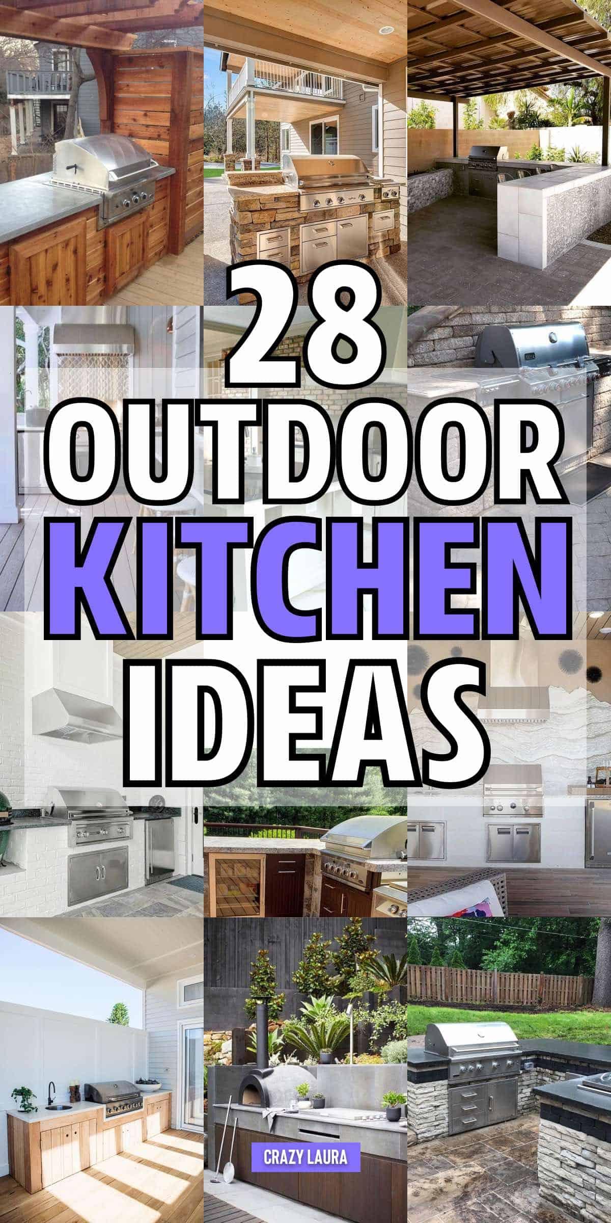 easy backyard kitchen grills