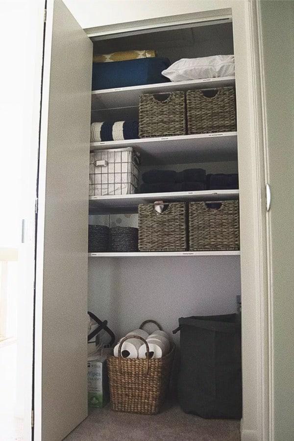 basic linen closet