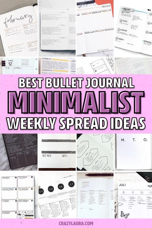 simple bullet journal weekly spread ideas