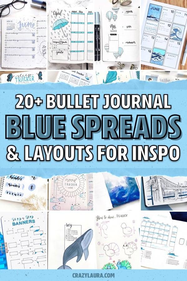 best bujo ideas with blue spread