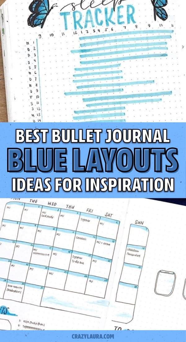 blue theme for bullet journal