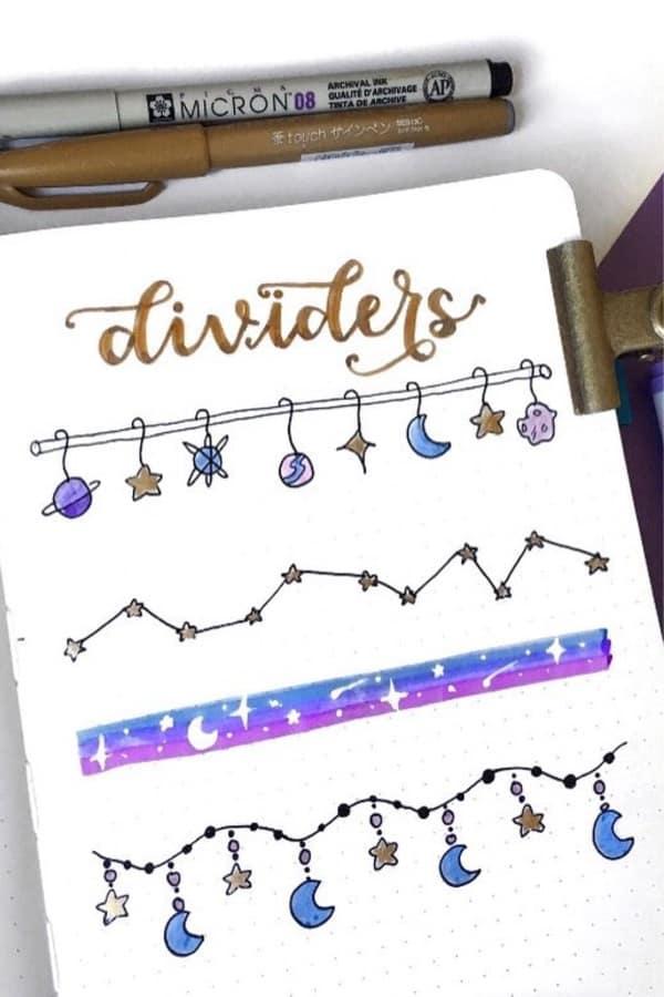 space doodle divider ideas