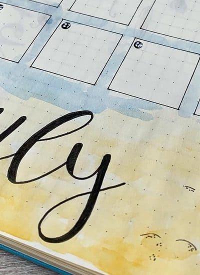 ideas for july bujo