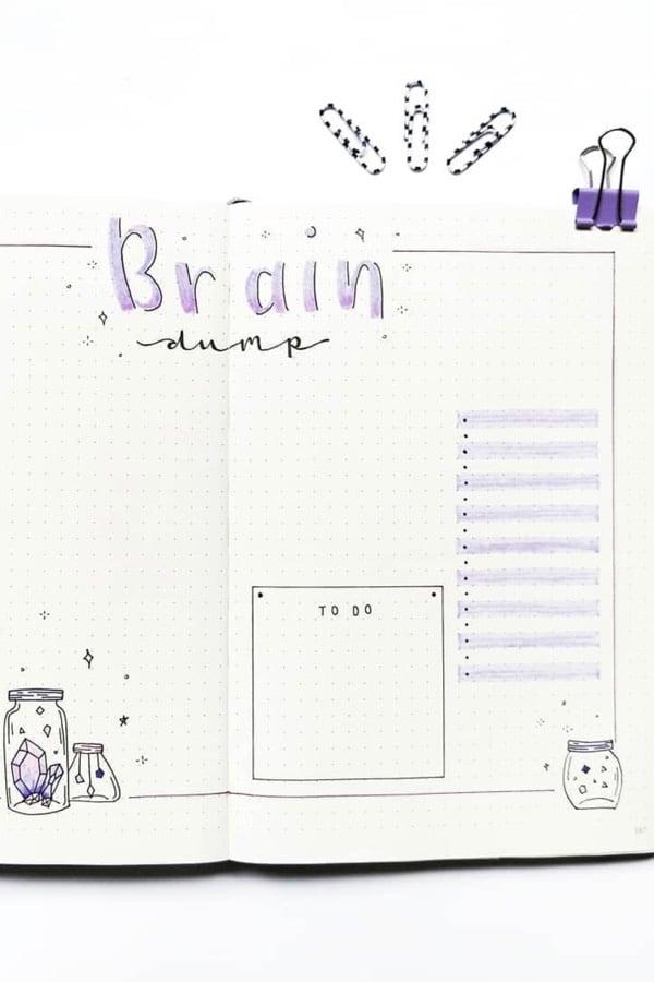 best purple theme ideas for bujo