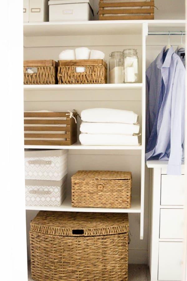how to konmari a linen closet