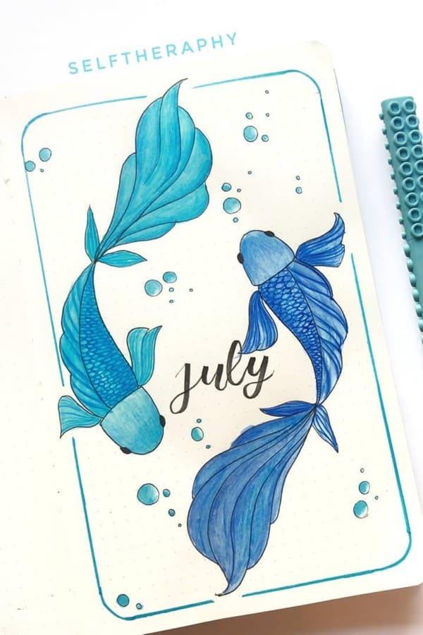 best blue bujo theme ideas