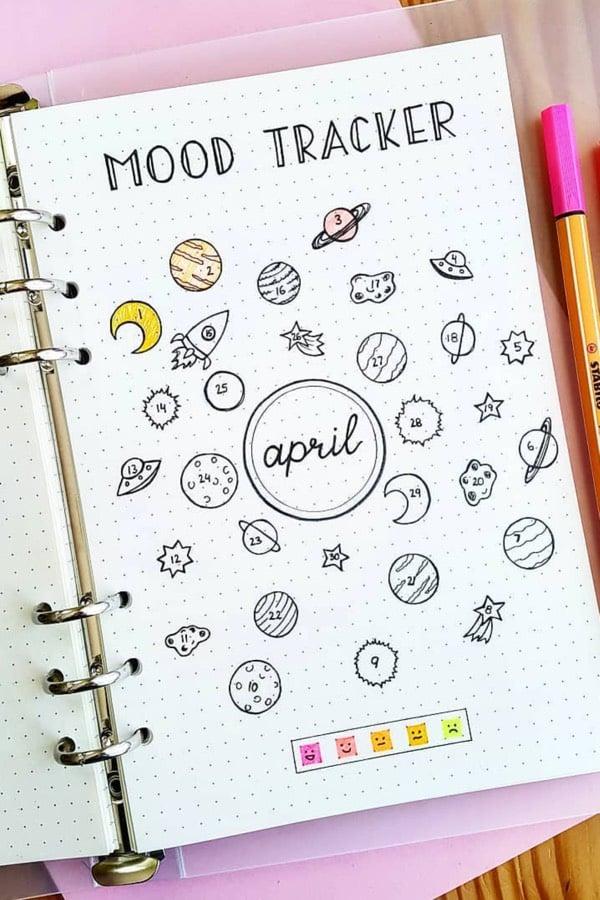 space mood tracker spread