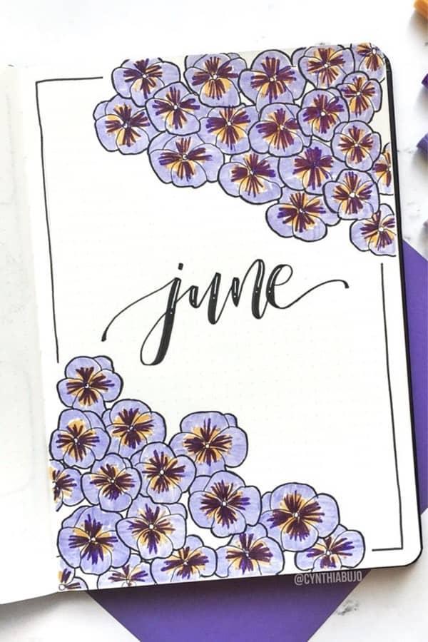 best purple bujo spread ideas