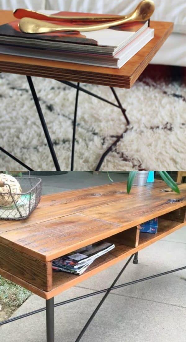 best metal leg coffee table diy
