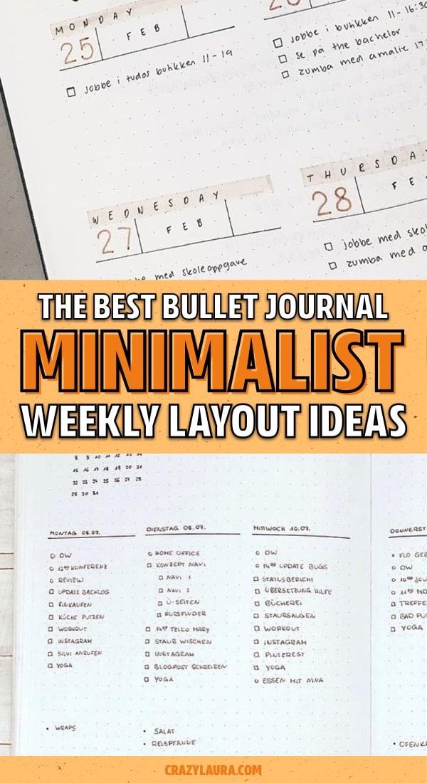 best minimal weekly log examples