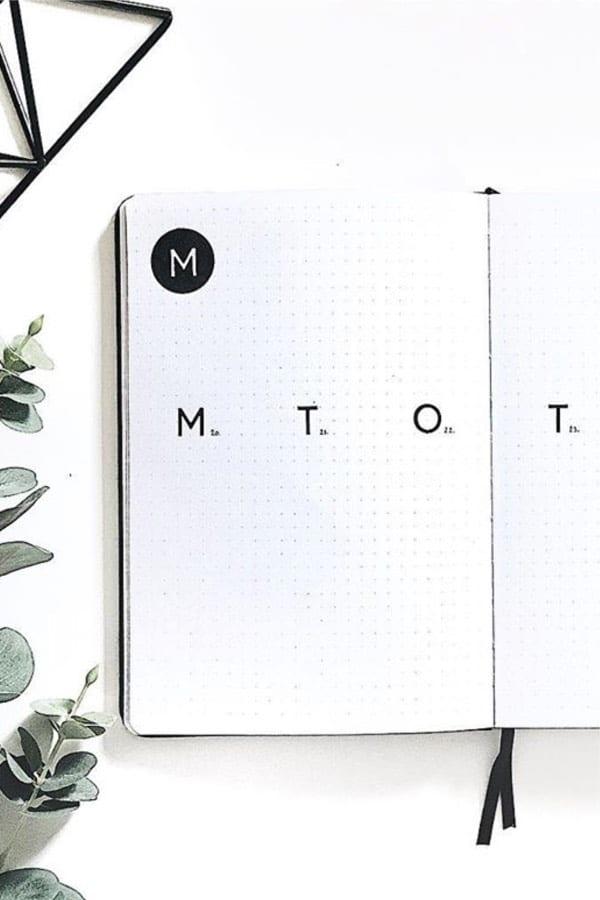 best minimalist weekly spread ideas