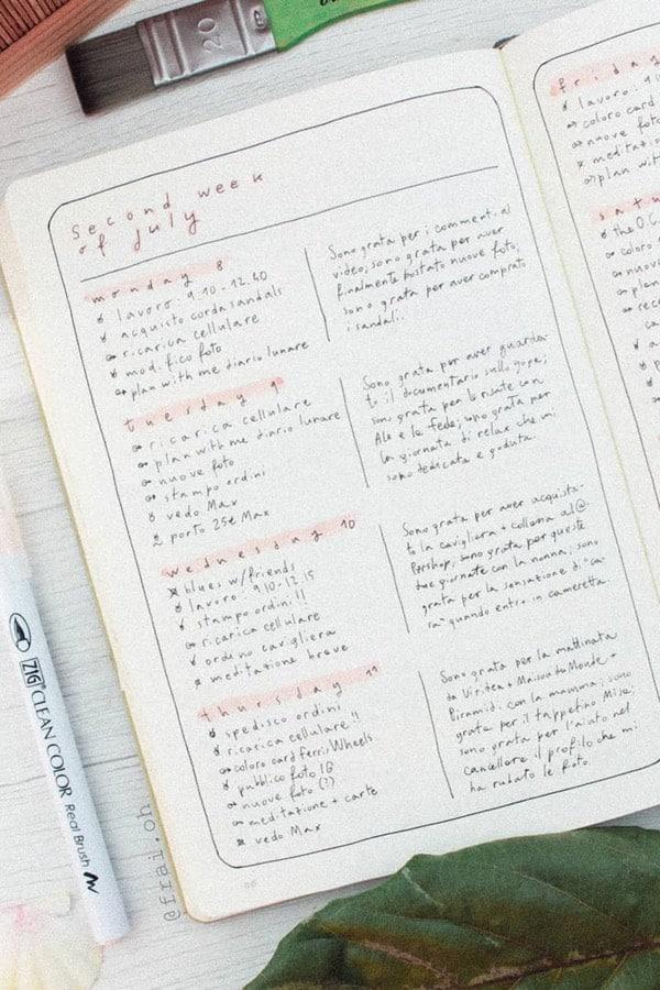 pastel minimliastic weekly spread ideas