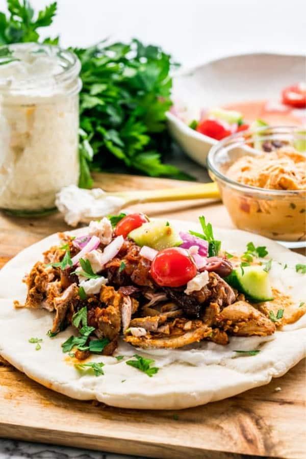 fast chicken shawarma