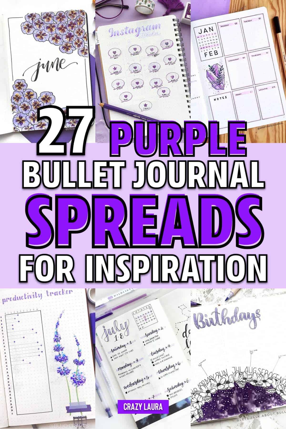purple bujo