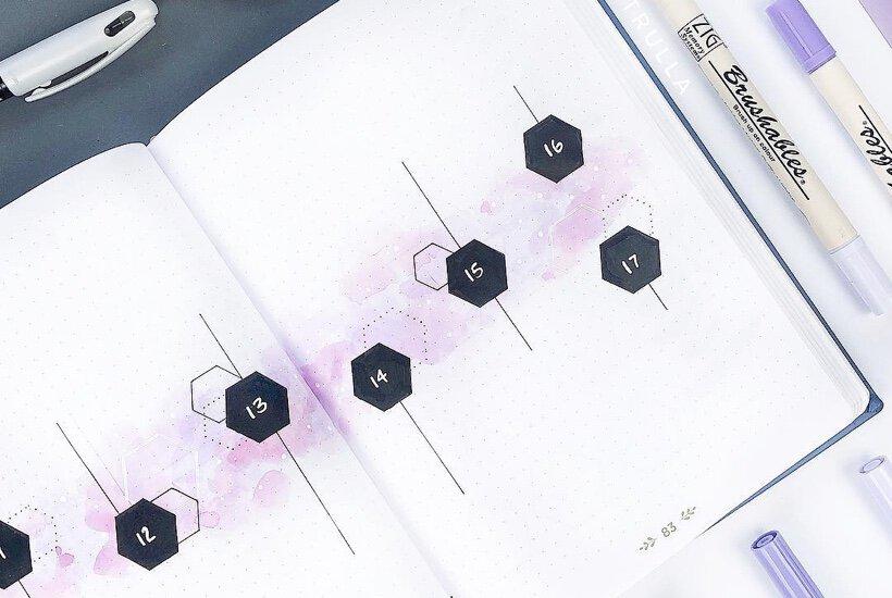 27 Best Purple Bullet Journal Spreads For 2020