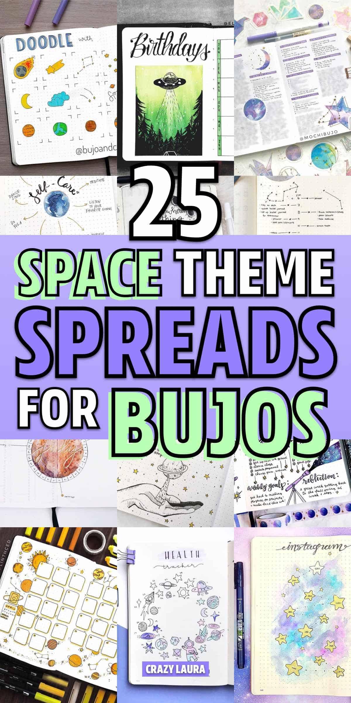 creative space spread for bujo