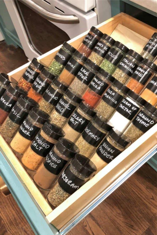 diy drawer insert for spices