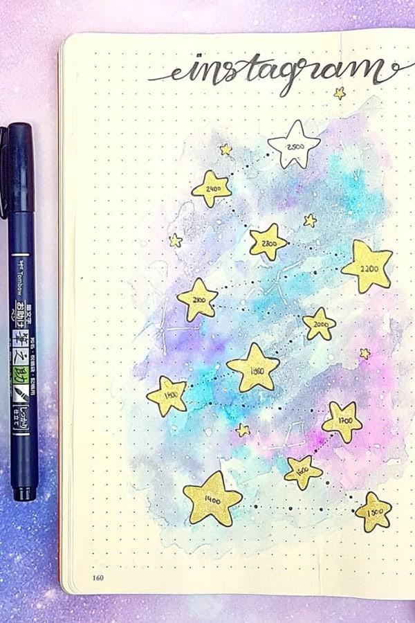 galaxy bujo theme