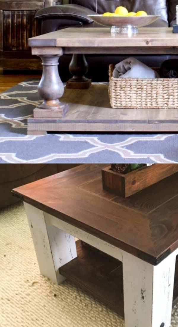 chunky diy coffee table ideas
