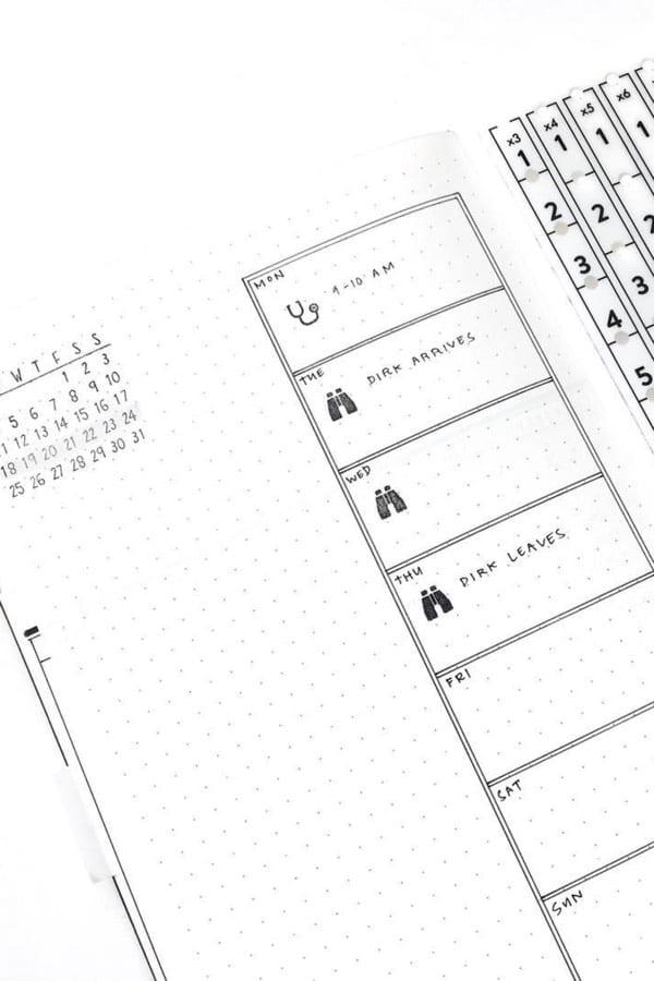 minimalist boxy spread
